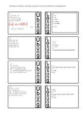 Grundlagen Gleichungen Teil 2