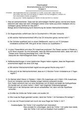 Test/ Klausur zum Abschluss Stochastik 10