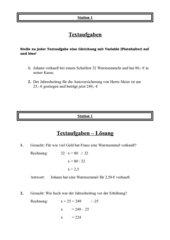 Terme und Gleichungen - Stationentraining mit Selbstkontrolle