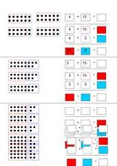 Multiplizieren mit 12;15 &Co - Arbeitsblatt zur Erarbeitung und Übung