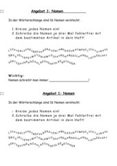 Grammatikübungen