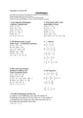 AB Gleichungen lösen