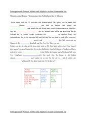Lückentext für Wortarten