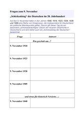 Fragen zum 9. November