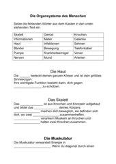Organsysteme des menschen arbeitsblatt – Autos, Marken, Bewertungen