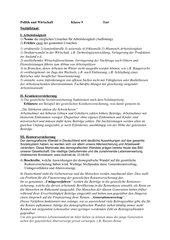 Test Sozialstaat/Sozialversicherung mit Lösung