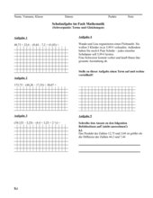 Probearbeit im Fach Mathematik