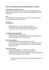 Checkliste Gestaltende Interpretation