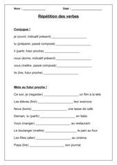 Répétition des verbes