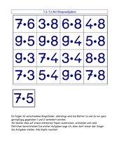 Bingo mit Spielfeldern zu den Einmaleinsreihen