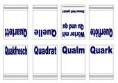 Miniheft zum Buchstaben qu/Qu