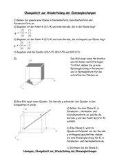 Aufstellen und Umrechnung verschiedener Ebenengleichungen
