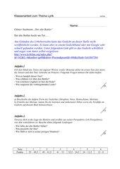 Klassenarbeit zum Thema Lyrik (7 Kl.)