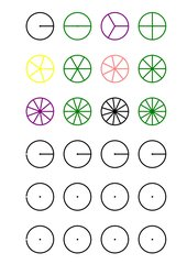 Brüche, Kreisdiagramme