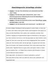 Abwechslungsreiche Satzanfänge - Arbeitsblatt zur Übung