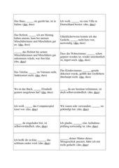 Spielkärtchen S-Schreibung