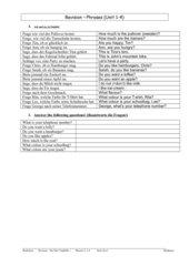 Revision You&Me1 Units 1 - 4 mit Lösungen