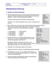 ABC-Regeln - Infoblatt
