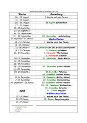 selbsterstellter Jahresplaner für NRW