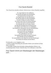 Frau Tauschs Haushalt