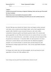 Klassenarbeit: Gruselgeschichte weiter schreiben (+Bewertungsbogen)