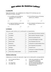 Quiz Südamerika _ Aufgabenblatt