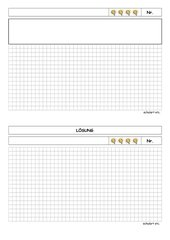 Blanko-Karteikarte A für die 4t-Sachaufgabenkartei