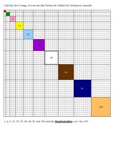 Quadratzahlentafel
