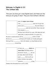 Vorstellung der Lehrwerksfiguren English G 21 A1