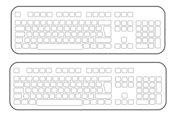 Tastatur mit unbeschrifteten Tasten