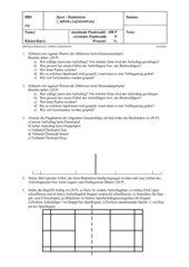 Klassenarbeit Badminton