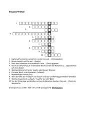 Bronzezeit Kreuzworträtsel