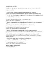 Fragen zu den Texten in Unit 1; Engl. G 2000, B4