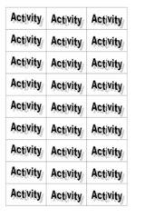 Activity-Spiel : Zelle