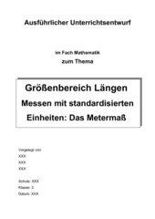 Größenbereich Längen - Messen mit standardisierten Einheiten: Das Metermaß