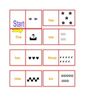 Domino zu numbers (1-12)