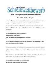 Schreibwettbewerb: Eine Feriengeschichte spannend erzählen