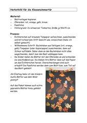 Herbstbild für Klassentür mit Fotos