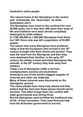 Australia's native people