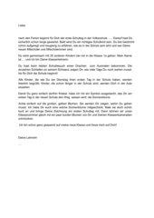 Brief an Schulanfänger
