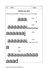 AB zu Darstellung und Stellenwertsystem bis 200