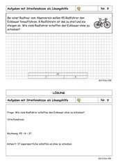 Sachaufgabenkartei - 3. Klasse - ZR bis 100 - Rechnen mit Streifenskizzen - leicht