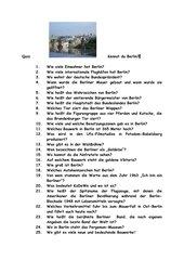 Kennst du Berlin?