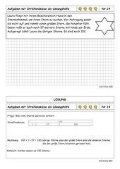 Sachrechenkartei - 3. Klasse - ZR bis 100 - sehr schwer - mit Hilfe von Streifenskizzen rechnen