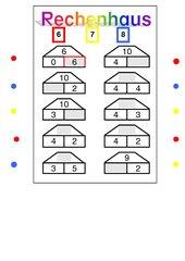 Klammerkarten Anfangsunterricht Mathe