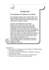 Anklageschrift Wilhelm Tell