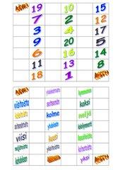 Zahlenbrett für Zahlen 1 bis 20