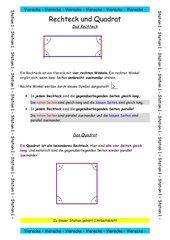 Stationsarbeit Geometrie - Vierecke