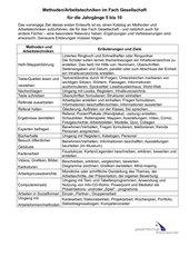 Methoden und Arbeitstechniken im Fach Gesellschaft