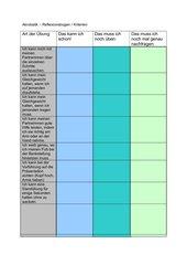 Akrobatik: Reflexionsbogen oder Kriterienbogen